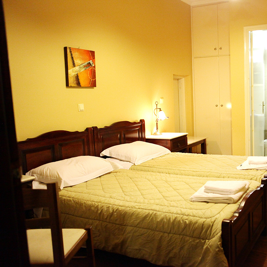 Ilion Hotel Nafpaktos Twin Room.